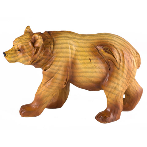Small Bear Faux Carved Wood Look Figurine