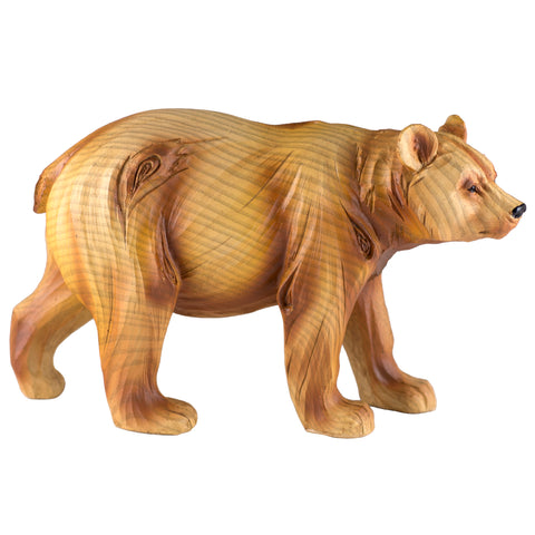 Bear Faux Carved Wood Look Figurine