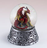 Red Dragon Figurine In Snow Globe 2