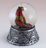 Red Dragon Figurine In Snow Globe 4