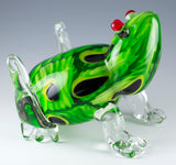 Green Murrini Frog Hand Blown Glass Figurine 4