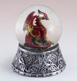 Red Dragon Figurine In Snow Globe 5