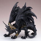 Black Dragon In Armor Figurine Statue 2