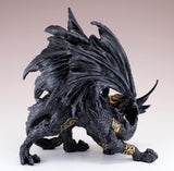 Black Dragon In Armor Figurine Statue 4