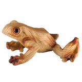 Frog Faux Carved Wood Look Figurine 5