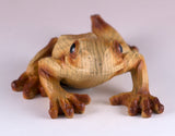 Frog Faux Carved Wood Look Figurine 6