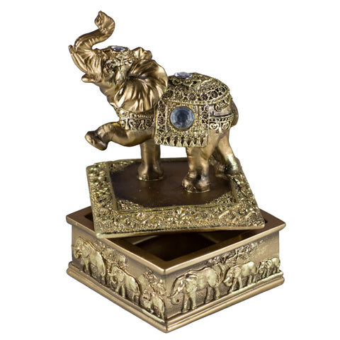Thai Elephant Trinket Box Figurine 1