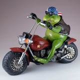 Biker Frog On Motorcycle Figurine 2