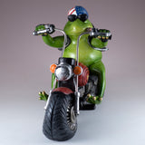 Biker Frog On Motorcycle Figurine 3