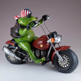 Biker Frog On Motorcycle Figurine 4