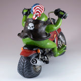 Biker Frog On Motorcycle Figurine 5