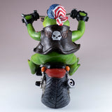 Biker Frog On Motorcycle Figurine 6
