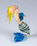Miniature Hand Blown Glass Mermaid Figurine 44
