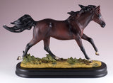 Horse Figurine Dark Brown Bay 1