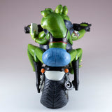 Biker Frog Couple Taking Selfie Riding Motorcycle Figurine 6