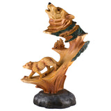 Wolf Faux Carved Wood Look Figurine 11