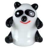 Panda Sitting Miniature Hand Blown Glass Figurine