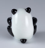 Panda Sitting Miniature Hand Blown Glass Figurinev
