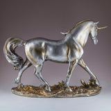 Silver and Gold Elegant Unicorn Figurine 4