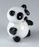 Panda Miniature Hand Blown Glass Figurine
