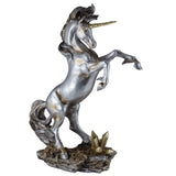 Silver and Gold Rearing Unicorn Figurine 1