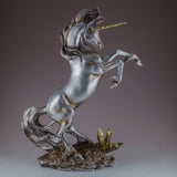 Silver and Gold Rearing Unicorn Figurine 4