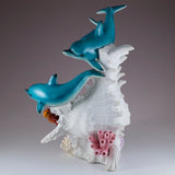 Dolphins and Clown Fish With LED Seashell Figurine 4