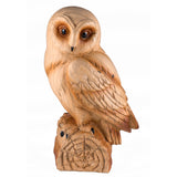 Barn Owl Faux Carved Wood Look Figurine