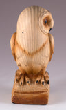 Barn Owl Faux Carved Wood Look Figurine 2