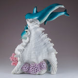 Dolphins and Clown Fish With LED Seashell Figurine 5