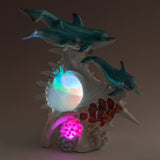 Dolphins and Clown Fish With LED Seashell Figurine 7