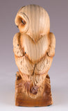 Barn Owl Faux Carved Wood Look Figurine 4