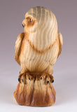 Owl Faux Carved Wood Look Figurine 2
