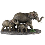 Elephant Family Mother and Youngsters Figurine 1
