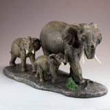Elephant Family Mother and Youngsters Figurine 2