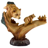 Bear Faux Carved Wood Figurine 1