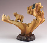 Bear Faux Carved Wood Figurine 3