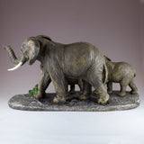 Elephant Family Mother and Youngsters Figurine 4