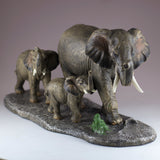 Elephant Family Mother and Youngsters Figurine 5