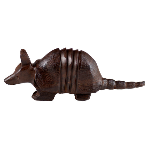 Armadillo Hand Carved Ironwood Wood Figurine 1