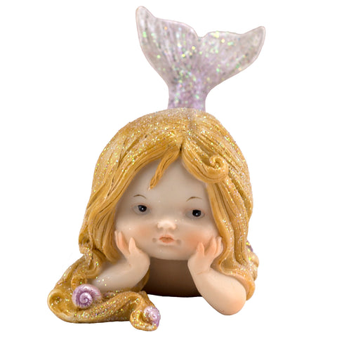 Little Sparkly Mermaid With Tail Up Figurine 1