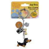 Little Paws Dachshund Dog Key Ring 1