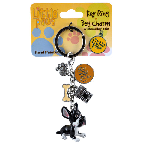 Little Paws Boston Terrier Dog Key Ring 1