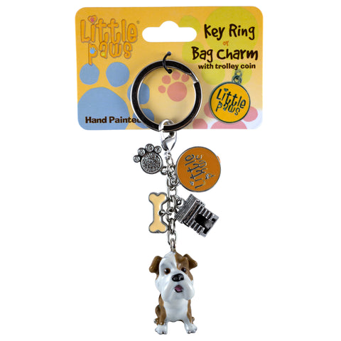Little Paws Bulldog Dog Key Ring 1