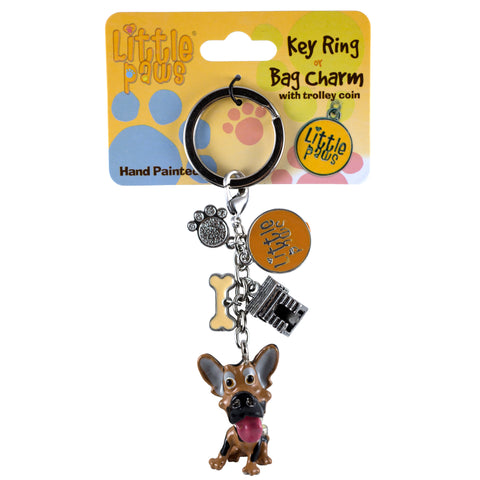 Little Paws German Shepherd Dog Key Ring 1