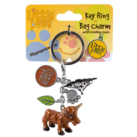 Little Paws Highland Cow Key Ring 1