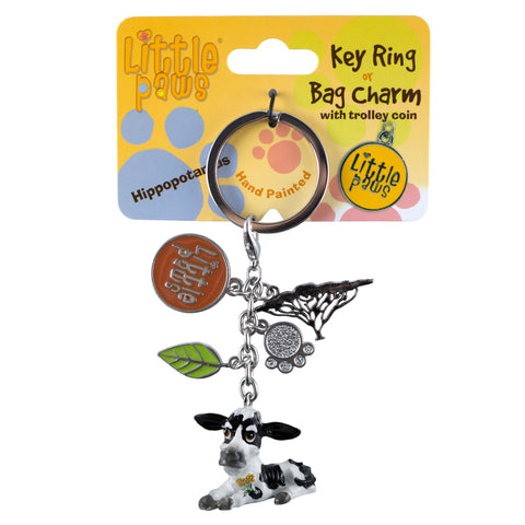 Little Paws Fresian Cow Key Ring 1