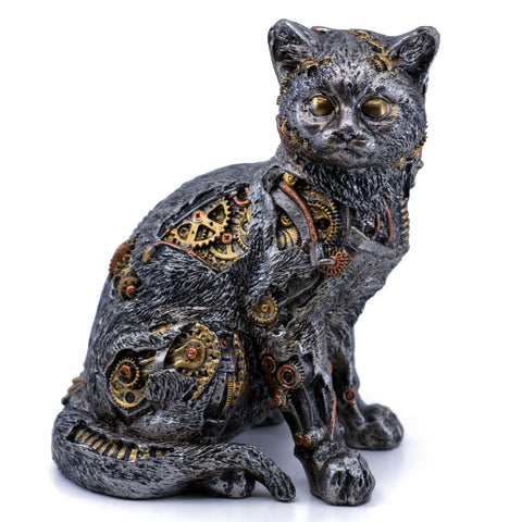 Steampunk Cat Figurine 1