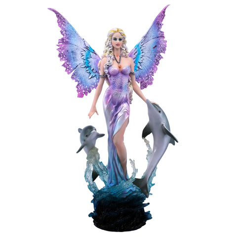 Fairy In Water With Dolphins Figurine 1