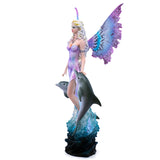 Fairy In Water With Dolphins Figurine  3
